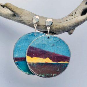 Earrings Blue Sheena Mathieson Woman Made Gallery