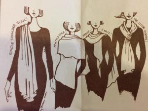 Many ways to wear a scarf